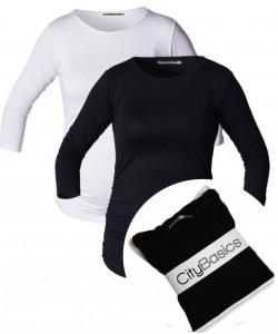 Pack de blusas básicas City cuello redondo manga ¾