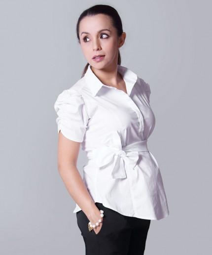 Modelos de blusas ejecutivas para damas mangas cortas - Imagui