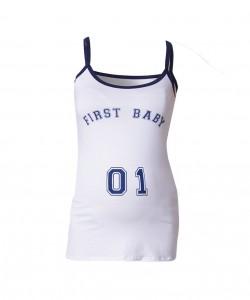 "Camiseta tiras azules ""First Baby"""