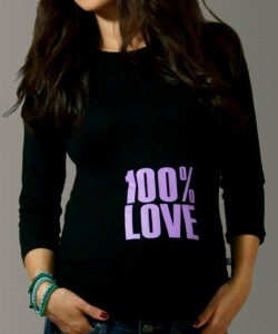 "T-shirt mangas 3/4 ""100% Love"""