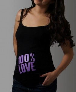 "T-shirt de tirantes ""100% Love"""