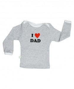 "T-shirt de manga larga ""I Love Dad"""