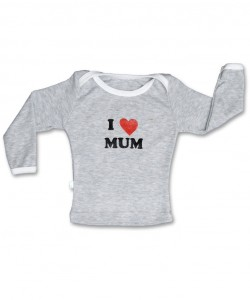 "T-shirt mangas largas ""I Love Mum"""