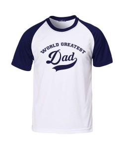 "Camiseta rangla azul ""Greatest Dad"""