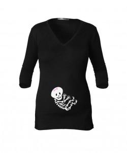 Camiseta manga 3/4 esqueleto niña