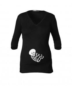Camiseta manga 3/4 esqueleto unisex