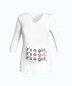 "Camiseta cuello V ""Girl"""