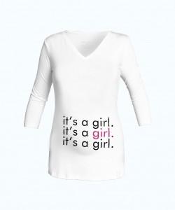 "Camiseta cuello V ""Girl"""