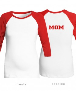 Camiseta MOM rojo