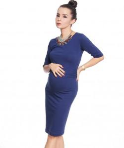 Vestido básico Cotton azul