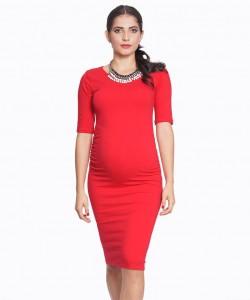 Vestido básico Cotton Rojo