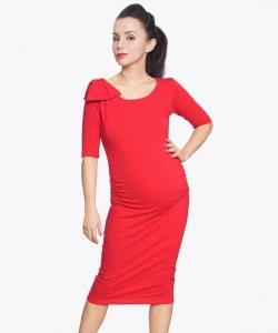 Vestido cotton rojo con moño