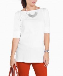 Blusa de chalis stretch blanca