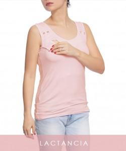 Top de lactancia Susan rosado