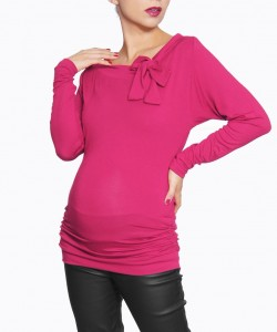 Top con moño hot pink