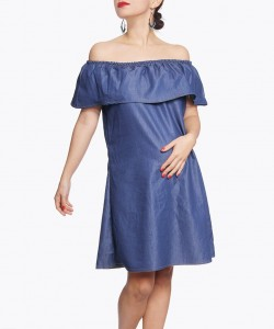 Vestido Denim Off the shoulders