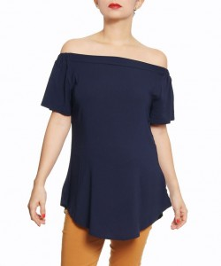 Top Off Chalis stretch navy