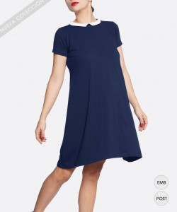 Vestido Mini Preppy Blue