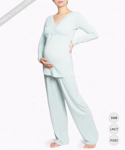 Pijama de embarazo Pistacho