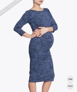 Vestido Azul estampadp