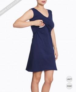 Vestido de lactancia Azul