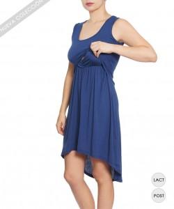 Vestido de lactancia Asimetrico