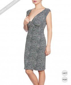 Vestido de lactancia Aninal print