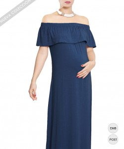 Maxi Off the Shoulder Navy