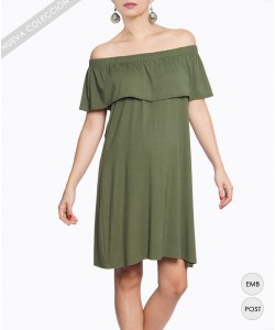 Vestido Off-the-Shoulder Oliva