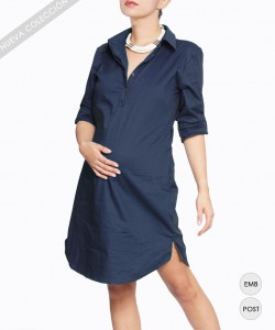 Vestido camisero Navy