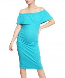 Vestido bandeja turquesa
