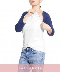 T-shirt lactancia mangas azules