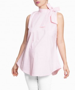 Blusa con moño rosa