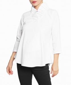 Camisa Ruffle Neck Blanca