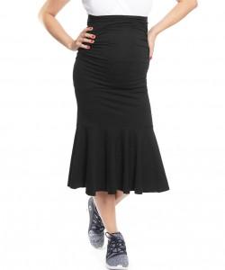 Falda Peplum negra