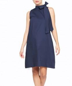 Vestido Bow Azul Marino