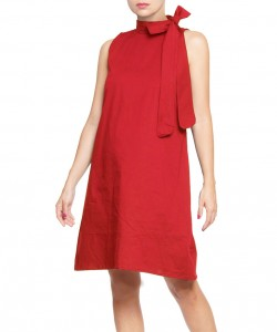 Vestido Bow rojo