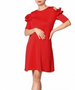 Vestido Rufle Rojo