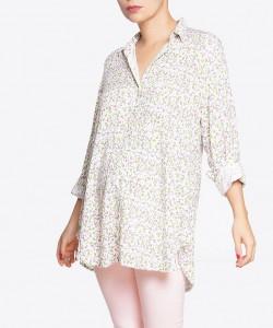 Camisa de chalis miniprint