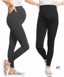 Pack 2 leggins Plus negro y gris