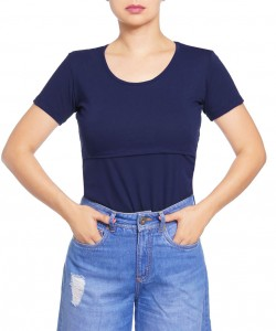 Top de lactancia Open-up navy