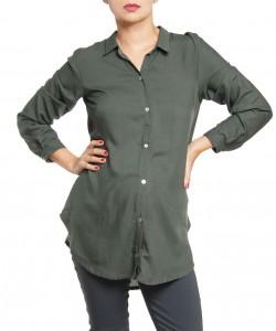 Camisa de chalis Verde militar