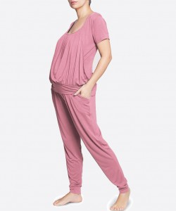 Pijama de pantalon y top manga corta palo de rosa