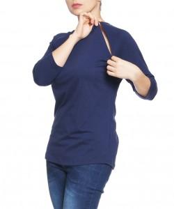 Camiseta de lactanctia con cierres navy