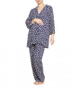Pijama navy de flores