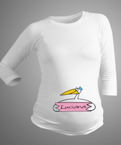 Camiseta personalizada con nombre niña